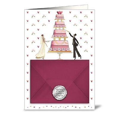 Quire*Wish&Give*Doppelkarte*Gutschein&Geldkarte*Hochzeit....10 x15cm*