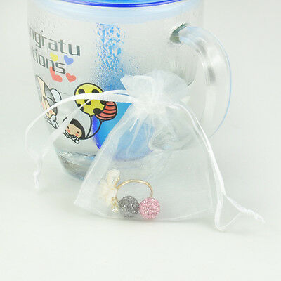 10X Wholesale Bulk Lots Organza Voile Jewelry Gift Favor Candy Pouch, 6 Colours