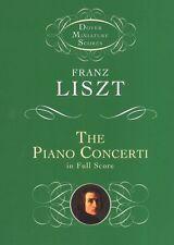 Franz Liszt The Piano Concerti Dover Miniature Score Play Classical Music Book