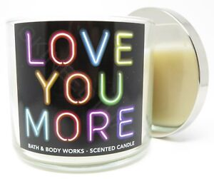 f63b68a49da Bath & Body Works Love You More Black Tea Rose 3 wick 14.5 oz candle ...