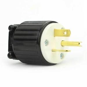 Straight Electrical    Plug    3    Wire     20 Amps  125V  NEMA 520P