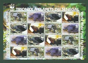 Togo-2006-Schildkroeten-WWF-Weichschildkroete-Tortue-Turtles-Nr-3337-40-Bogen