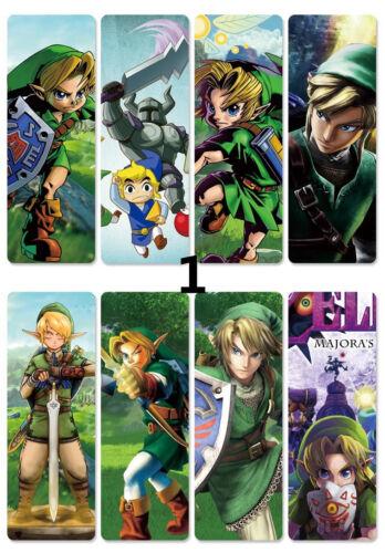 8pcs//set Bookmarks The Legend of Zelda Transparent PVC Book Marker Stationery