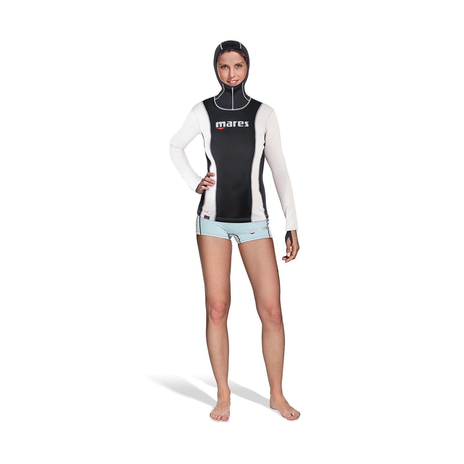 Mares Fire Skin Long Sleeve mit mit mit Kopfhaube Unterzieher für Damen 0133d8