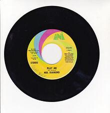 """Neil DIAMOND Vinyl 45T 7"""" PLAY ME - PORCUPINE PIE - UNI 55346 F Rèduit RARE"""