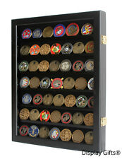 Challenge Coin Display Case Casino Chip Frame Shadow Box Cabinet