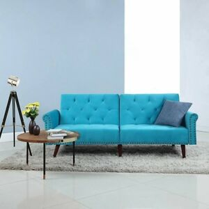 Details About Mid Century Modern Sleeper Sofa New In Box Free Delivery