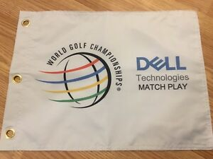 Dell-Technologies-Match-Play-WGC-PIN-FLAG-WITH-GROMMETS-Tiger-Woods-PGA-TOUR