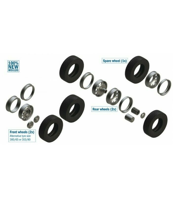 EUROPEAN TRACTORS TYRES AND RIMS KIT 1 24