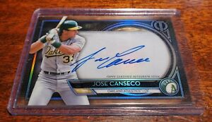 JOSE CANSECO SP #45/199 AUTO ON CARD 2020 TOPPS TRIBUTE #TA-JC OAKLAND A's