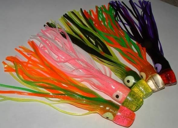 5 New Big Game Smoker Skirt  Trolling Fishing Lures 11   free shipping on all orders