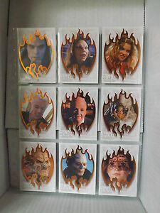 iKon-Buffy-TVS-The-Story-Continues-SUNNYDALE-EVIL-orange-9-card-chase-set