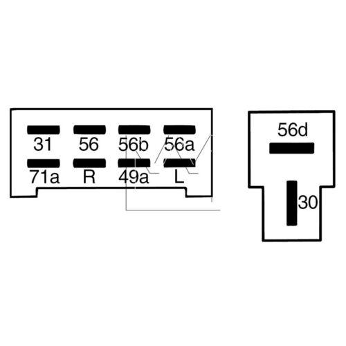Monark lenkstockschalter//interruptor intermitente Ø 45 para Oldtimer Turn Signal Switch
