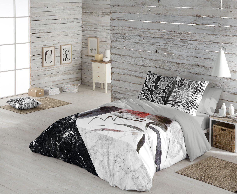 Naturals Funda nórdica cama Aydin + funda almohada 100% algodón  Duvet cover