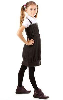 5-6 Years Girls Warm Knitted Warm Cotton Rich School Uniform Tights 3 Pack - Grey