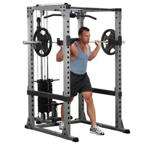 Body Solid Gpr378 Power Rack W Lat Attachment Gla378