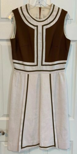 Vintage Parade New York 60s Sheath Dress Linen Loo