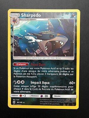 SL1 Soleil et Lune ☺ Carte Pokémon Sharpedo REVERSE 82//149 VF NEUVE