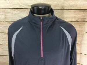 New-Reebok-Pullover-Workout-Jacket-Men-039-s-Large-Gray-Half-Zip-NWT