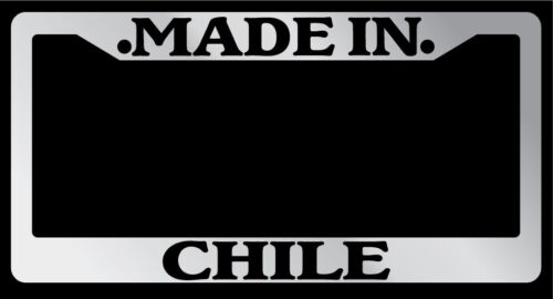 Chrome METAL License Plate Frame Made In Chile Auto Accessory 1184