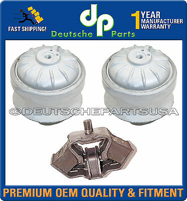 3 PCS Left /& Right Engine Motor /& Trans Mount For 1986-1989 Mercedes-Benz 300E