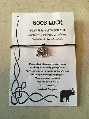 GOOD LUCK 4 LEAF CLOVER GOOD LUCK ALWAYS WISH BAG CHARM GIFT CARD COMPETITION