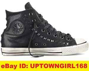 Details about Converse By John Varvatos Studded Hi Men Sneaker Shoes Leather Black 150162C New