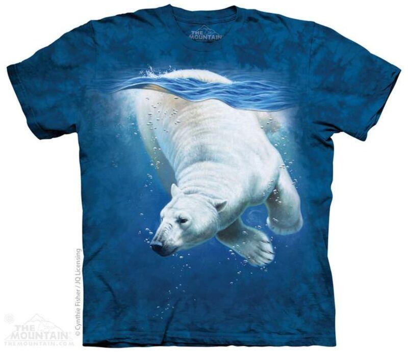 """polar Bear Dive"" The Mountain T-shirt - Child & Adult"