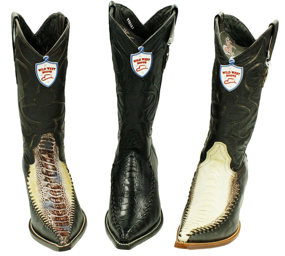 Para Hombre botas De Cuero Genuino ostrichleg Vaca Niño Estilo WW ostrichleg - 1