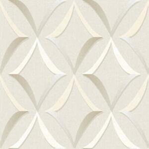 Wallpaper-Modern-Diamond-Trellis-Geometric-Beige-Taupe-Gray