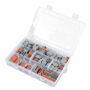 60-pieces-Bornes-de-connexion-2-3-5-entrees-fil-souple-rigide-Wago-serie