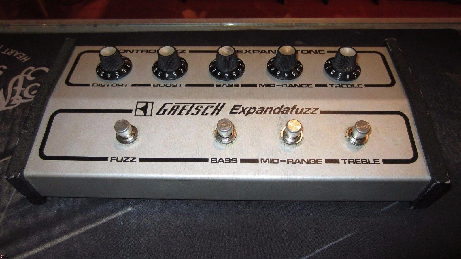 Vintage 1960's Gretsch Expandafuzz Fuzz Effect Pedal Rare grau EQ Sounds Amazing