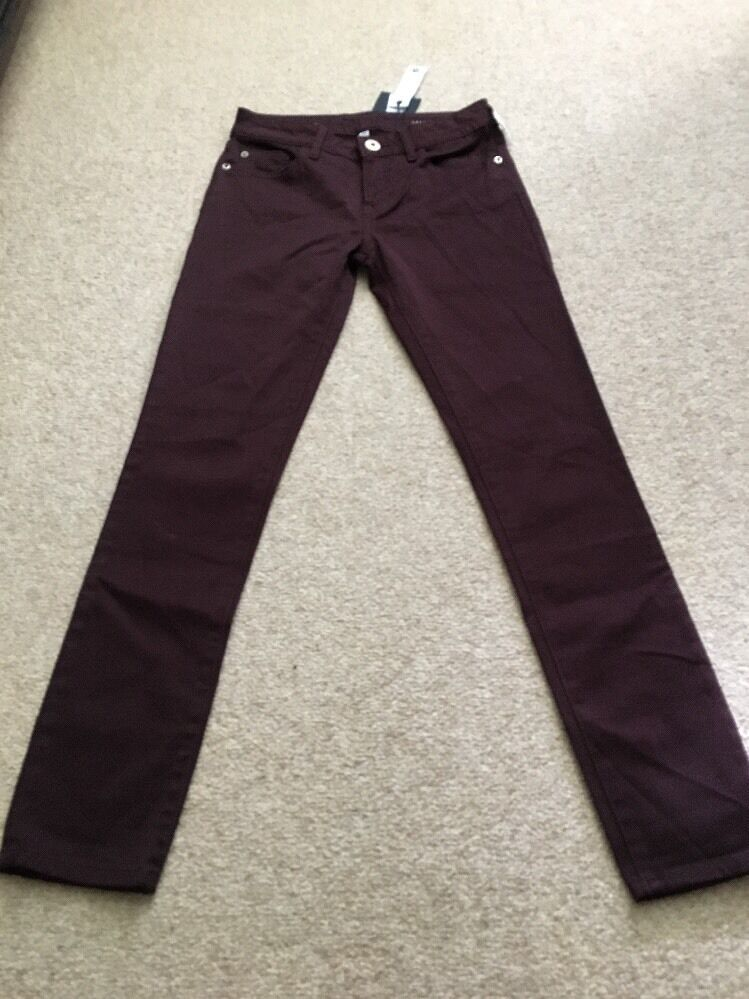 DL1961 Marguax Purple Instasculpt Twill Ankle Jeans Size 24 NWT Retail  198.00