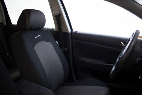 Sitzbezüge Sitzbezug Schonbezüge für Opel Corsa Dunkelgrau Sportline Komplettset