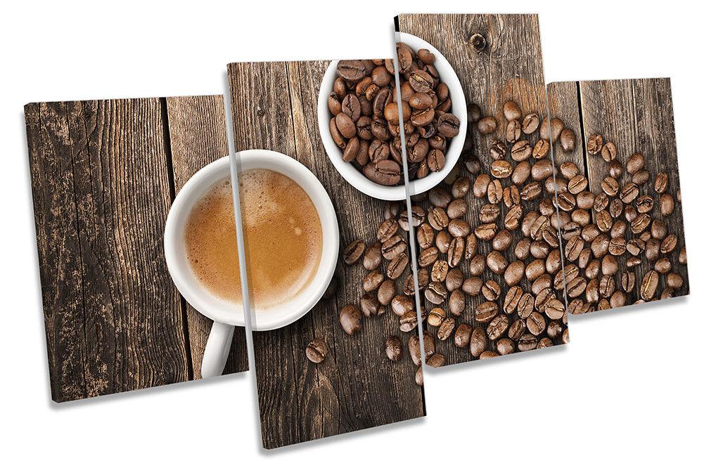 Tazas De Cocina arte Café Marrón LONA pared arte Cocina impresión de múltiples imágenes 80423a