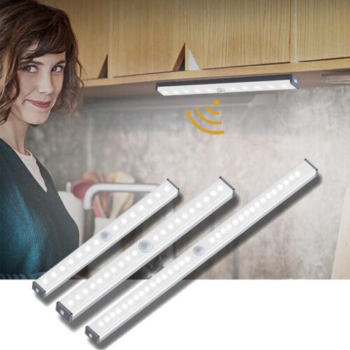 Lampe LED Armoire Chambre Veilleuse Capteur Mouvement sans Fil USB Rechargeable