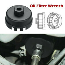 Oil Filter Cap Removal Tool Aluminum Alloy Cup Wrench 64mm 14 Flute For Toyota