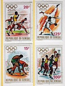 Senegal  1972 Olympic Set of 4  Superb Used  R1 - Glasgow, United Kingdom - Senegal  1972 Olympic Set of 4  Superb Used  R1 - Glasgow, United Kingdom