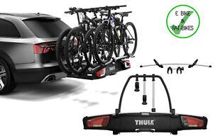 thule 939 velospace xt 4 bike cycle carrier rack towbar mount inc 4th adapter ebay. Black Bedroom Furniture Sets. Home Design Ideas
