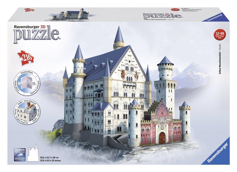 Ravensburger Spieleverlag Schloss Neuschwanstein Teile Teile Teile 3D Puzzle-Bauwerke NEU 6fc22f