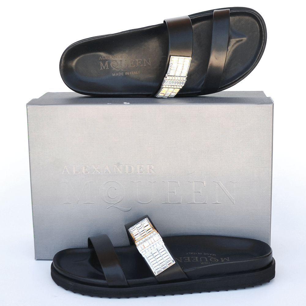 Alexander McQueen New sz 39 - 9 Donna Designer Flats Shoes Slides Sandals