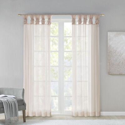 Madison Park Ceres Twist Tab Voile Sheer Window Pair Ebay