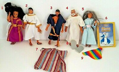 "1986 BIBLE HEROES wee win fit 7/"" mego doll BODY ROBE SHOES DAVID JESUS MOSES"