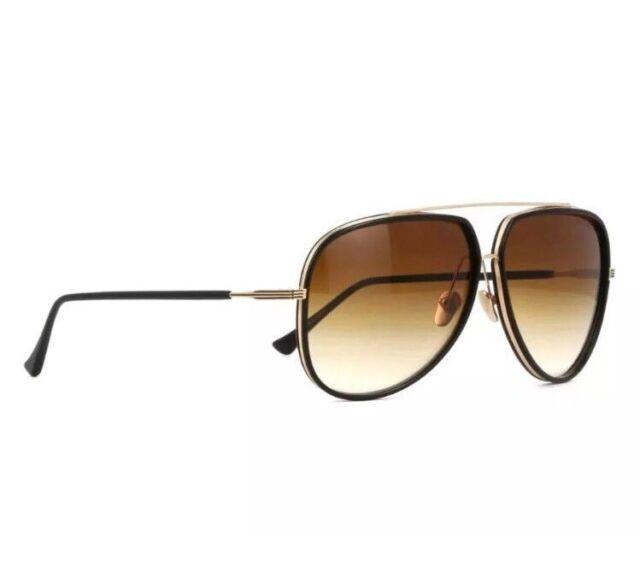 0ba6e05adf40 DITA CONDOR TWO 21010 E 12K BLACK-GOLD BROWN LENS 62mm AVIATOR Sunglasses
