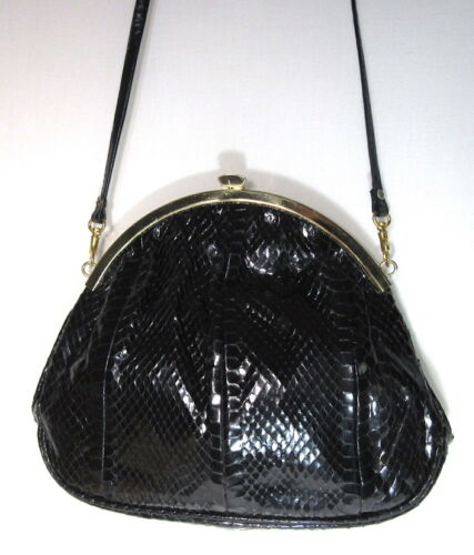 Vtg 70s does Victorian Snakeskin Leather Shoulder