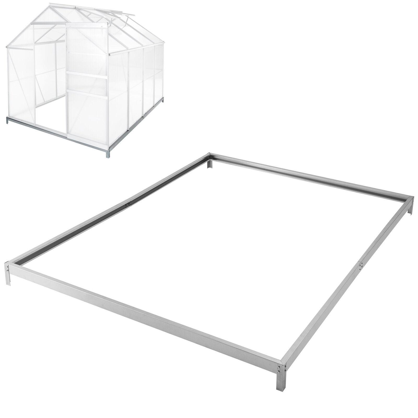 Fundación Base de efecto invernadero 250 X 185 cm Marco de Acero Galvanizado de Casa verde