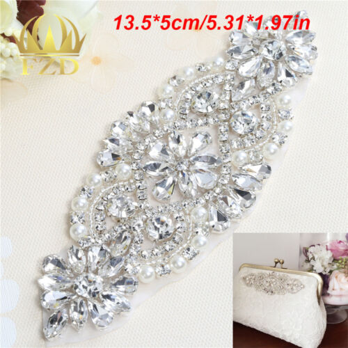 Crystal Rhinestone Applique Bridal for Wedding Dress Belts Sash FA-317