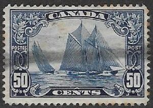 Canada-1929-Scroll-Issue-034-Bluenose-034-Sc-158-Used-VF-CV-100-00