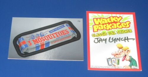 WACKY PACKAGES ANS7 FOIL 3 MOSQUITOES SIGNED BY JAY LYNCH