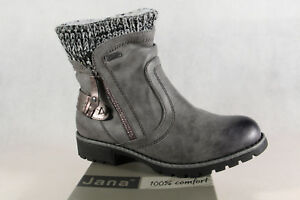 new style 922d7 846b6 Details about Jana-Tex Women's Boots Boots Winter Boots Grey New